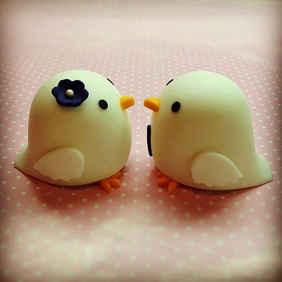 Love Bird Cake Topper by BeautifulKitchen on Etsy, $70.00