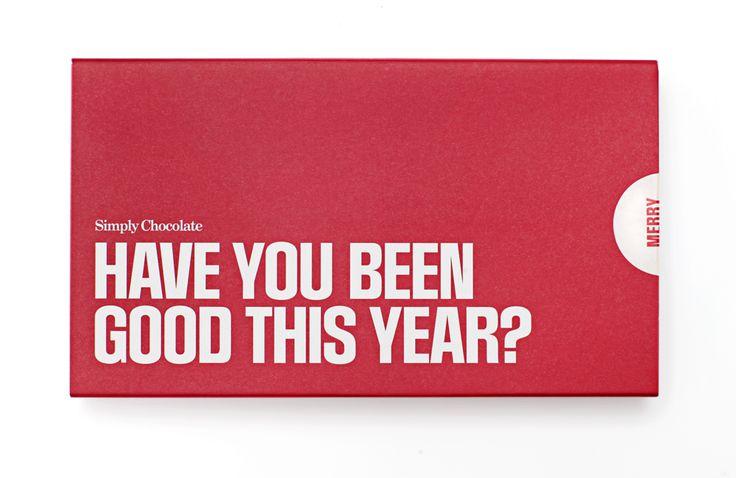 @simplychocolate #madeincopenhagen #Christmas #Chocolate #haveyoubeengoodthisyear? #design #packaging
