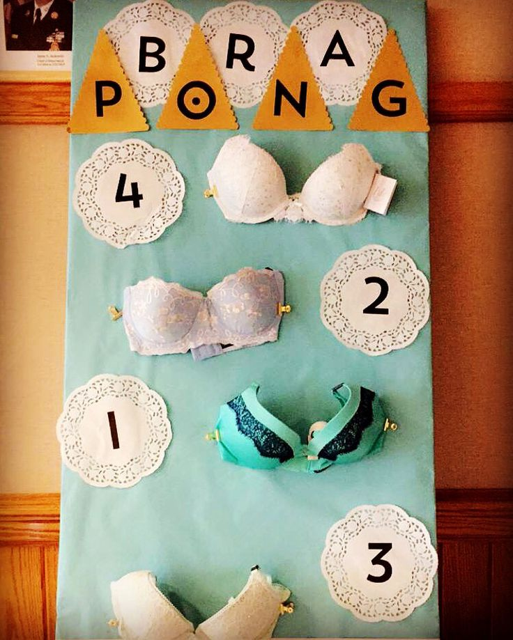 Classy beer pong, but bridal BRA PONG! Bridal shower ideas