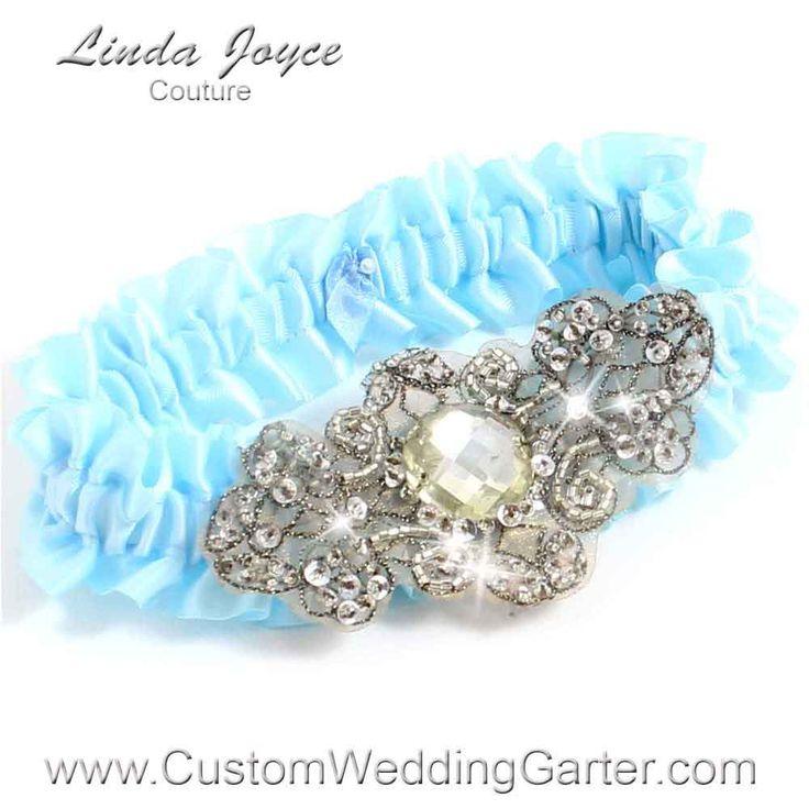 Alice Blue Antique Jewel Beaded Wedding Garter Bijou 01