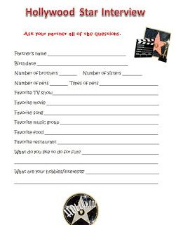 Fun Fourth Grade Collaboration Classroom: Hollywood Back to School Theme Posters and Activities
