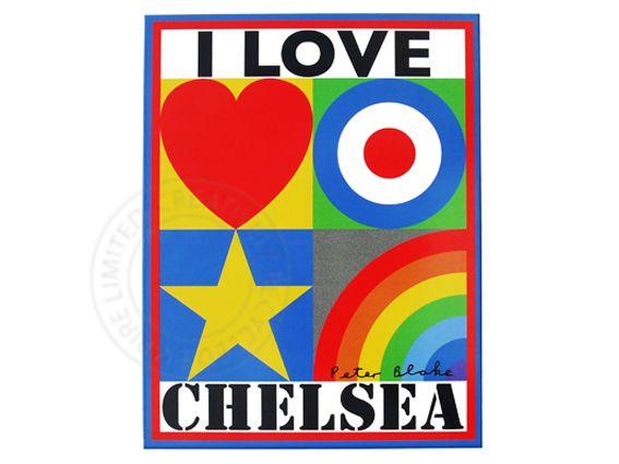 'I LOVE CHELSEA' by Sir Peter Blake