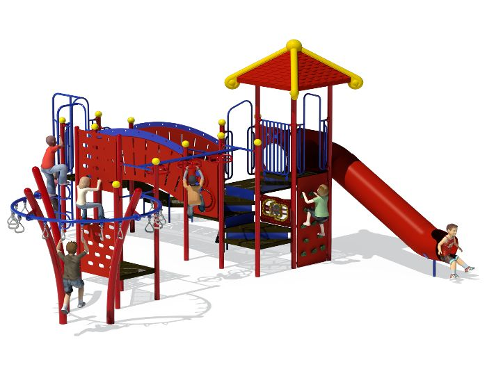 the red rover play structure from apcplay is a piece of commercial playground equipment that features - Commercial Playground Equipment