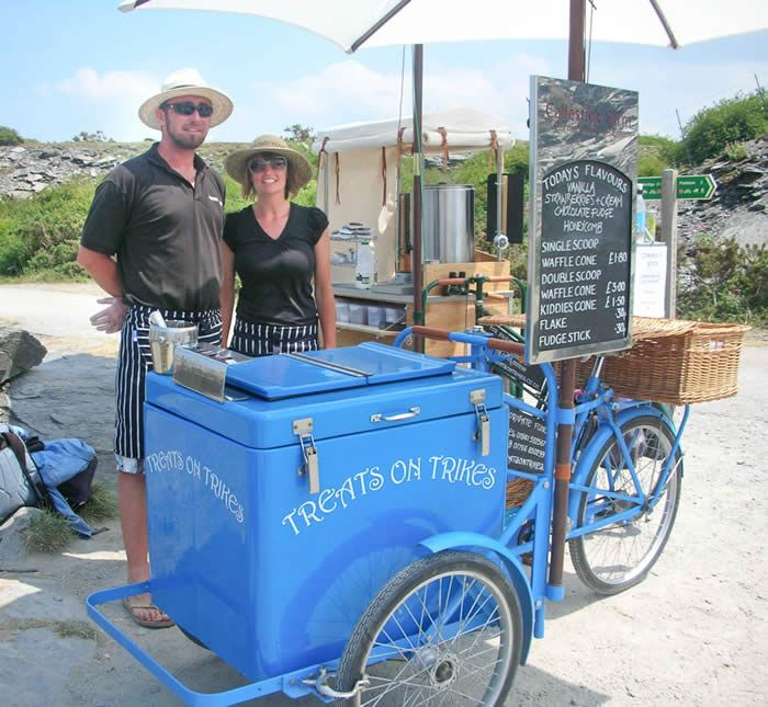 Mobile ice cream distribution from Callestick Farm Cornish Ice Cream