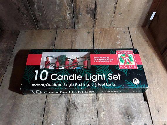 Vintage Christmas LightsCandle Lights /Clips Set Of 10
