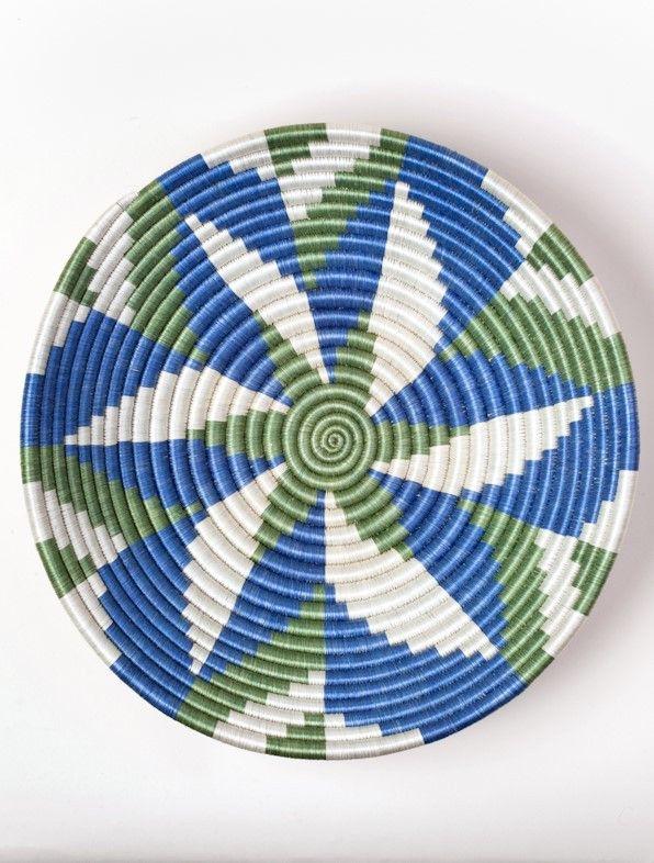 Sage and Blue Petals Fruit Basket