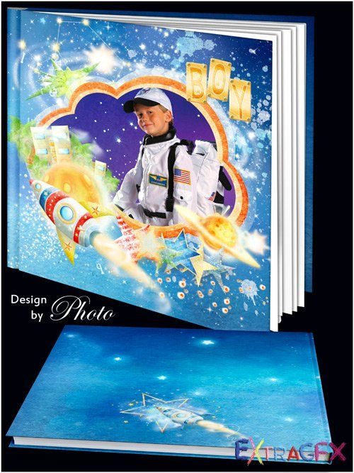 Children photo book boy - The way to the stars