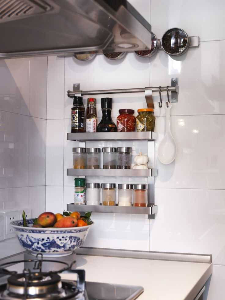GRUNDTAL kruidenrekje. Maak je keuken helemaal af met onze producten! #IKEA #keuken