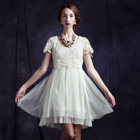 shopruche tulle around town lace dress by RyuPretty Dresses, Minis Dresses, Ruched Tulle, Ruched Dresses, Wear White, Lace White, Tulle Dresses, Cream White Ivory Lace, Lace Dresses