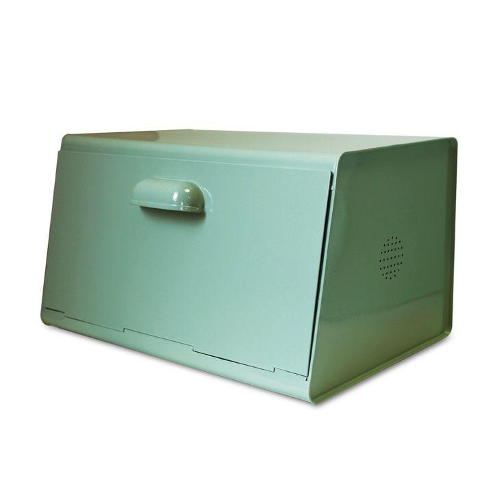 La Boite à Pain Vert Menth Foncé créée par Waterquest est Superbe avec son design Retro Modern!Une Boite à Pain en Métal, Simple, Fonctionnelle et Vintage.C'est la solution Déco pour Ranger votre PainWaterquest