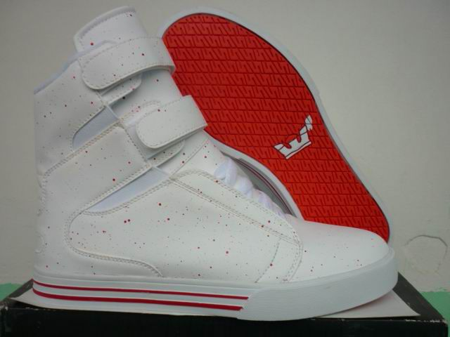 Welcome to our suprafashionshoes.com Supra Shoes Online Shop, purchase this pair Discount Mens Supra TK Society Star Sports Shoes White Red, many surpise and benefits for you.