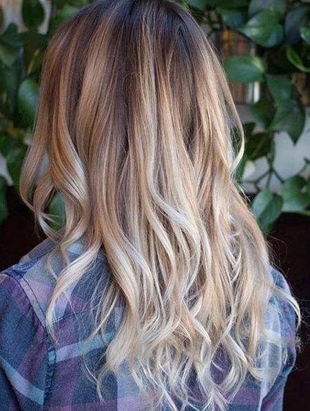 Brown Color Shades Ideas 2018 Warm Blonde Balayage Hair Color