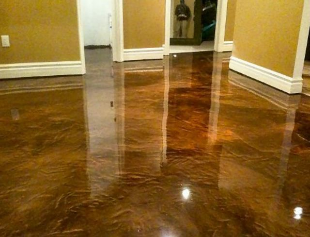cement floor cost how much does it cost to stain a concrete floor
