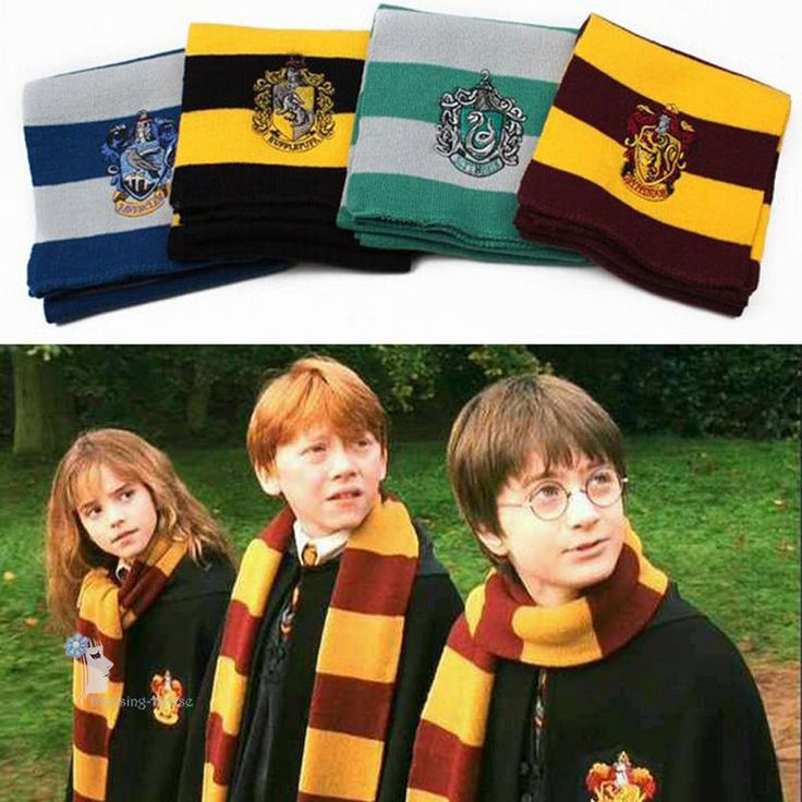 Harry Potter Gryffindor/Slytherin/Hufflepuff/Ravenclaw Scarf/Tie/Hat Set Cosplay | Collectables, Fantasy/Myth/Magic, Harry Potter | eBay!