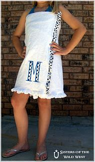 Make your own towel wrap,. Could be cute monogrammed on the embroidery machine.