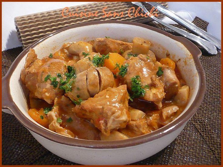 Un classique de la cuisine italienne. - Recette Plat : Veau marengo, ragoût italien. par Cuisinesanschichi