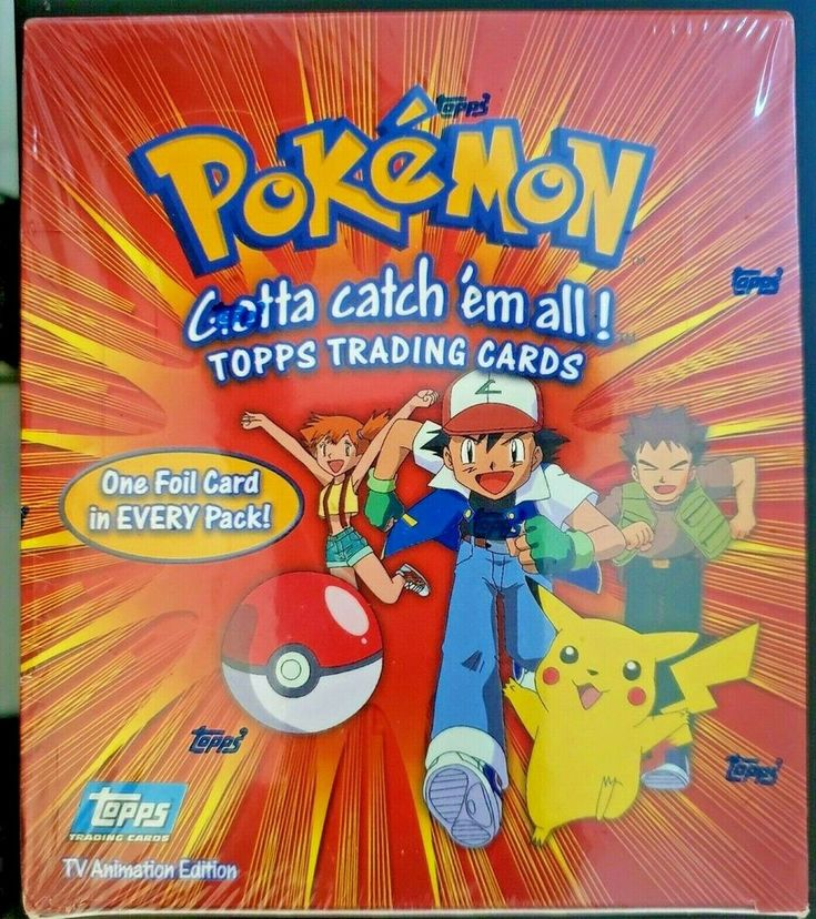 Details about pokemon topps series 1 sealed booster box tv