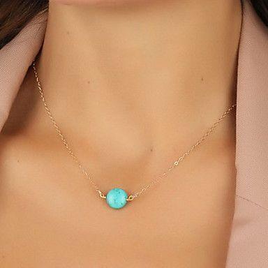 moda shixin® uma resina azul pingente de colar de pérola (1 pc) - EUR € 1.46