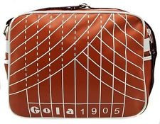 GOLA 1905 REDFORD TRACK CLAY BROWN & WHITE ZIP UP RUNNING MESSENGER BAG NEW