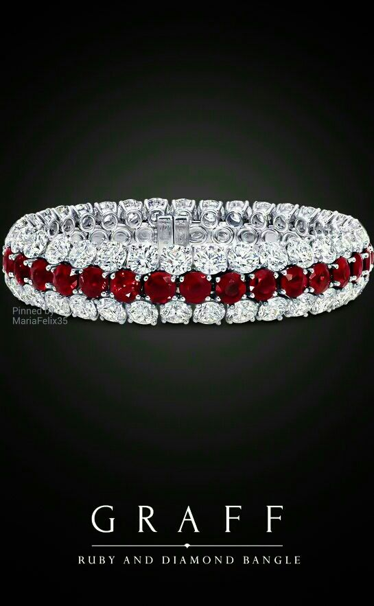 Graff Diamond and Ruby Bracelet | You can see the Rest of the Outfit and my Remarks on this board. - Gabrielle