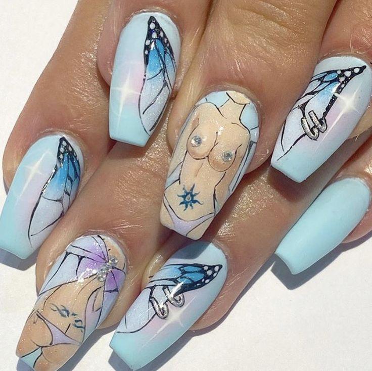 Pin on nail art, nail designs, dope nails