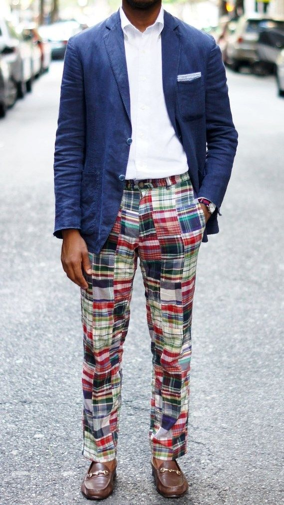 These are kind of a lot, but I'm never going to not love madras. That's just not a thing. || patchwork madras pants