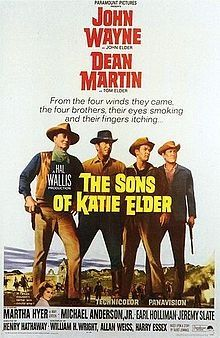 The Sons of Katie Elder is a 1965 Technicolor Western film directed by Henry Hathaway and starring John Wayne and Dean Martin. The movie was filmed principally in Mexico. Wikipedia Initial release: July 1, 1965 Director: Henry Hathaway Running time: 122 minutes Initial DVD release: June 5, 2001 Screenplay: William H. Wright, Allan Weiss, Harry Essex, Talbot Jennings