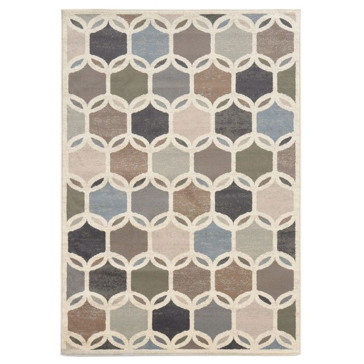 Transitional Circles Ivory Multi Rug 67 X 93 By Style Haven Apartment IdeasArea RugsDining