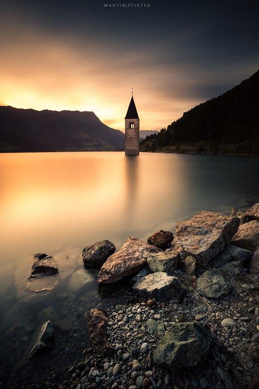 The Reschensee in Tirol...