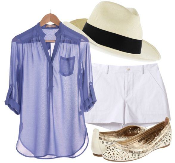 Sheer for You Top | Organic by John Patrick Two Pocket Short | Pachacuti Llano Panama fedora | Belle by Sigerson Morrison AndromedaBeach Attire, Beach Vacay, Fedoras Beach, Summer Style, Beach Beauty, Cute Summer Outfit, Panama Hat Outfit, Panama Hats Outfit, Beach Beautiful