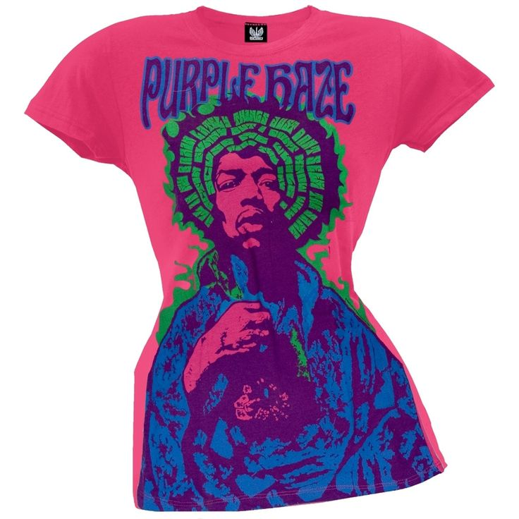 Jimi Hendrix - Purple Haze Pink Juniors T-Shirt