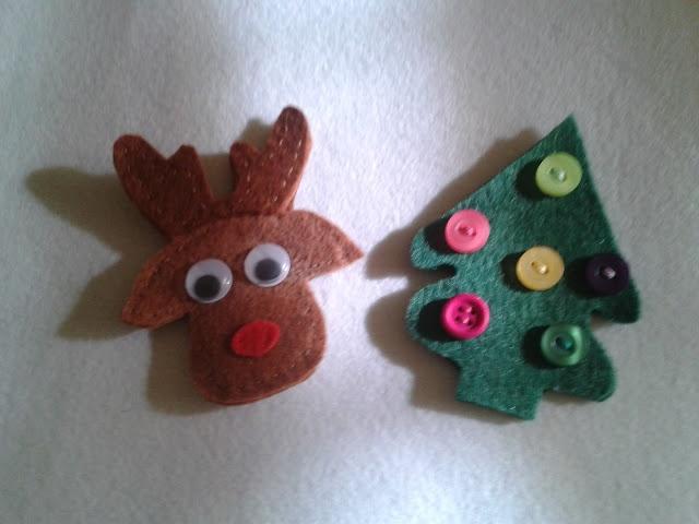 Broches de fieltro navideños by La Maryeta