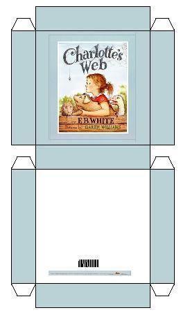 Miniature Charlottes Web Box free template