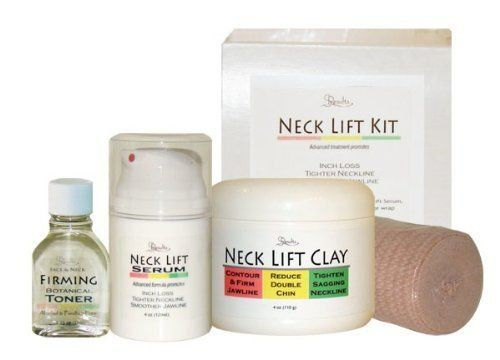 SLENDER RESULTS Neck Lift Kit - Neck Lift Clay, Neck Lift Serum, Firming Botanical Tonner. Simply Wrap Your Neck Thin! by Slender Results. $69.95. Slender Results Firming Toner to lift and tone. In Stock - Ships FREE!. Slender Results Neck Lift Serum to diminish fat cells and provide long term tightening. facial bandage wrap to provide compression for the neck lift clay treatment. Slender Resutls Neck Lift Clay to detox, reduce inches and tone. (1) jar 4oz Slender Result...