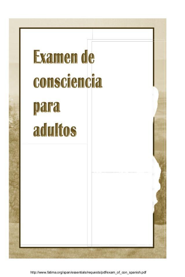 Examen de conciencia cruzada internacional del rosario de fátima