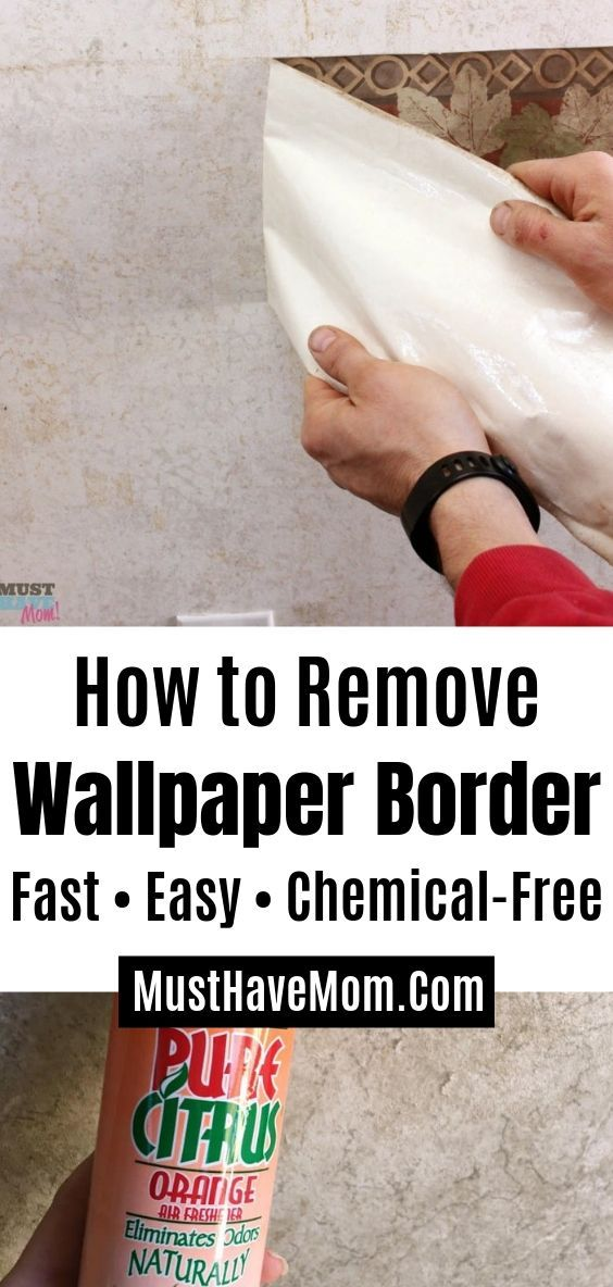 How To Remove Wallpaper Border Quick Easy Trick Remove Wallpaper Borders Removable Wallpaper Diy Wallpaper Border