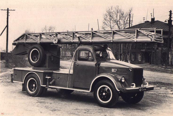 ГАЗ-51 пожарная лестница АЛГ-17