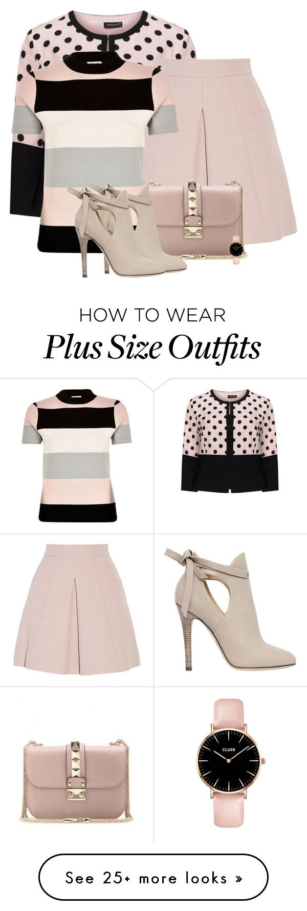 """""""Mixed Prints"""" by barbarapoole on Polyvore featuring Hermann Lange, Alexander McQueen, River Island, Valentino and Jimmy Choo"""