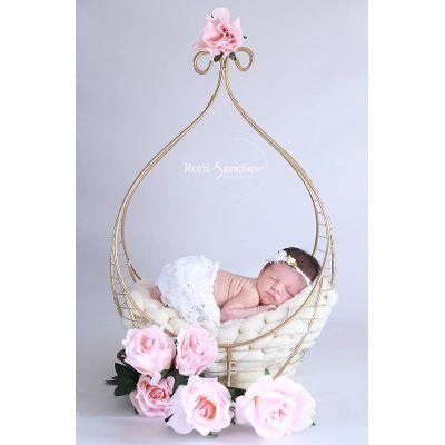 Cesto Aramado Para Fotos Newborn, Artigos Newborn - R$ 146,90 no MercadoLivre