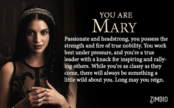 OMGOSH!! I LOVE HER !! I thought I would get one of the ladies in waiting but this is awesome! I took Zimbio's 'Reign' quiz and I'm Mary! Who are you? #ZimbioQuiz