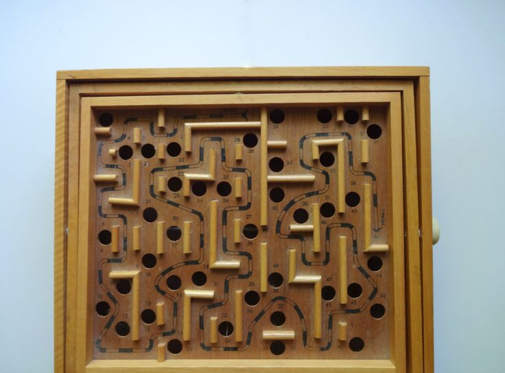 Vintage Wooden Labyrinth Game 1970s by WylieOwlVintage on Etsy