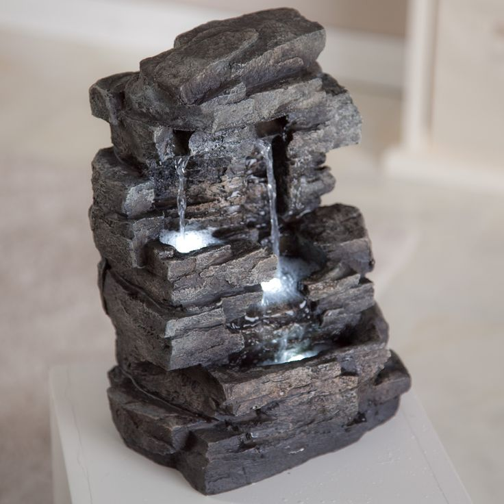 Rock Waterfall Indoor/Outdoor Tabletop Fountain   Introduce A Dramatic Feel  To Your Living Room Part 52