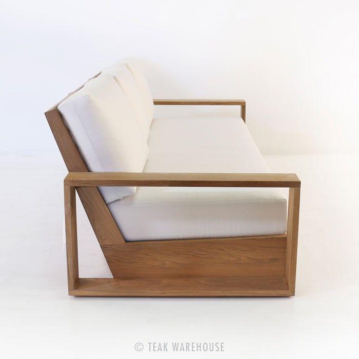 *** Teak Warehouse   Kuba Teak Outdoor Sofa