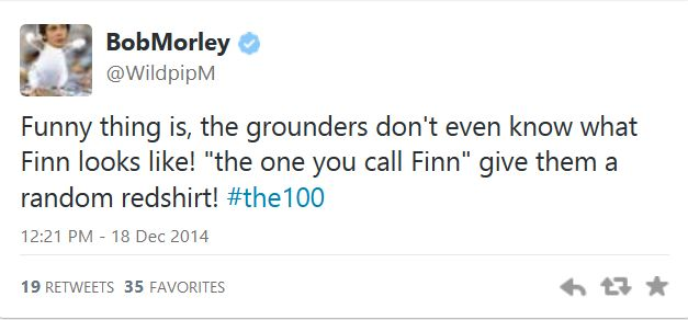 The 100 CW - Bob Morley #Twitter; I thought the same thing!!
