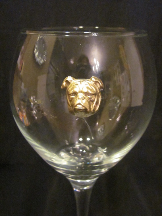 Bulldog Game Day Wine Glass by GamedaybySJ on Etsy, $15.00 UGA University of Georgia tailgate gift