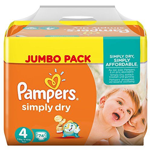 Pampers Windeln Simply Dry Gr. 4 Maxi 7-18 kg Jumbo Pack, 2er Pack (2 x 74 Stück) Pampers http://www.amazon.de/dp/B00RYSPND0/ref=cm_sw_r_pi_dp_wwpKwb0CZBSH1