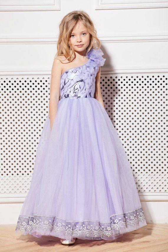 Purple Flower Dress for Juniors