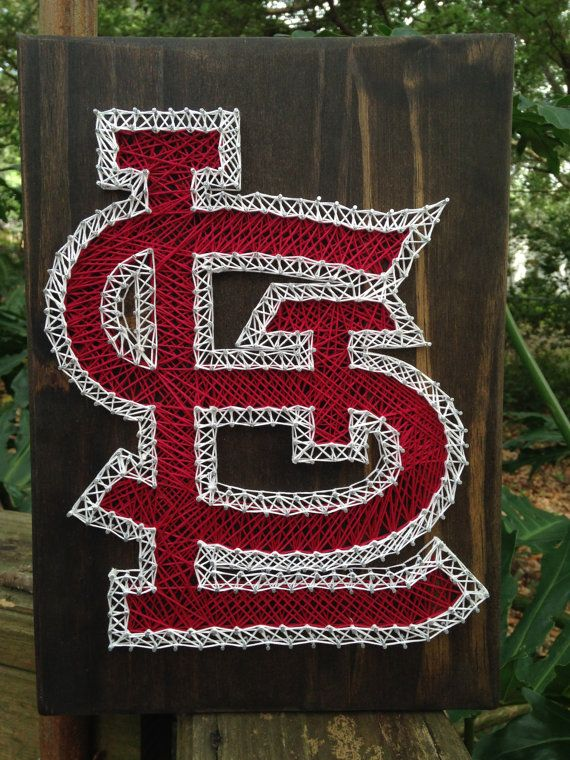St. Louis Cardinals String Art by RobinsNeStringArt on Etsy