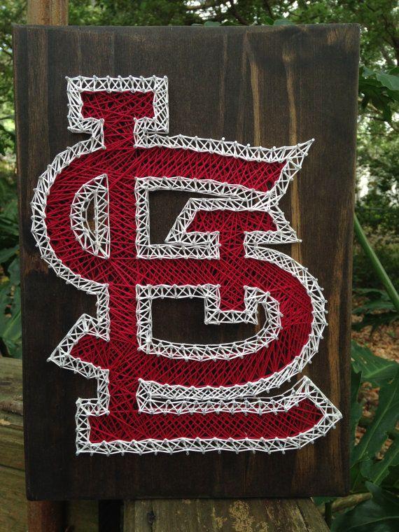 St. Louis Cardinals String Art by RobinsNeStringArt on Etsy