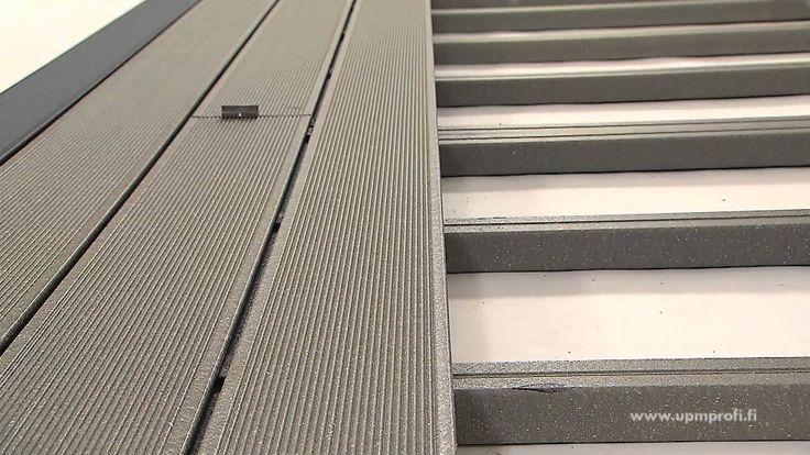 Kuinka UPM ProFi Deck -komposiittiterassi asennetaan oikein? Katso video tai lue lisää asentamisesta www.upmprofi.fi/komposiitin-asennus